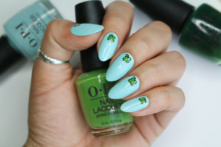 St Patricks Day Nail Art Clover Cuteness Blog Opi