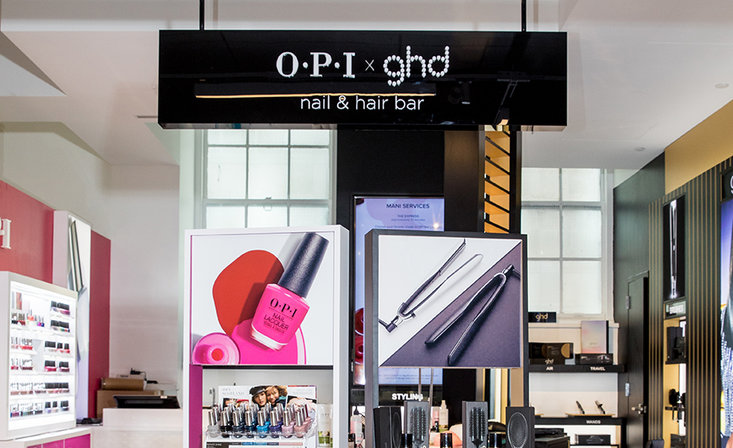 OPI and GHD: ultimate Nail & Hair Bar inside Bloomingdale NYC