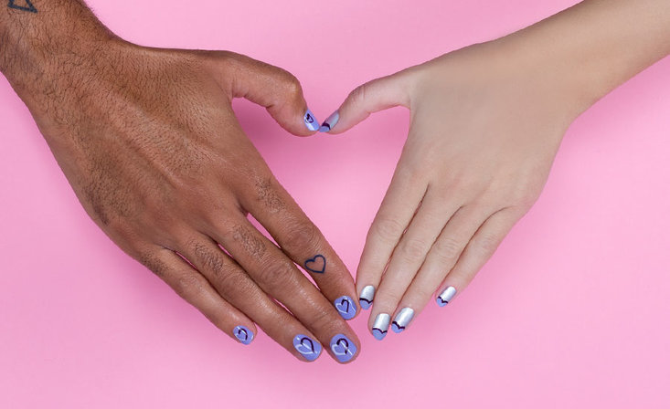 Divine minimalistic nail art looks perfect for Valentine's Day