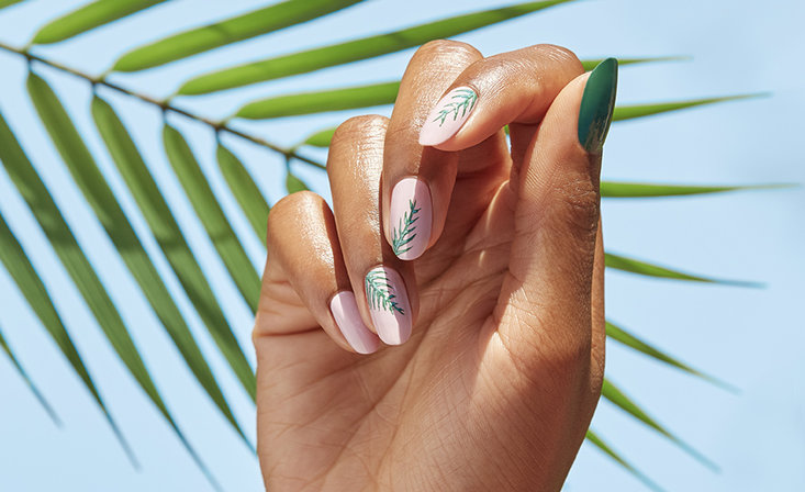 Hollywood Palms Nail Art by @banicured_