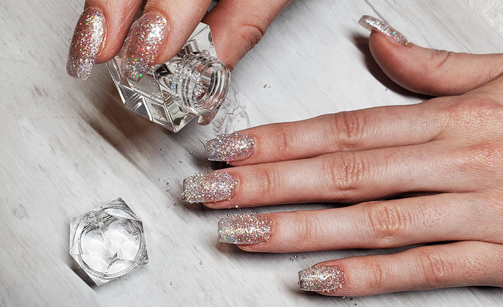 White Diamond Nails for the Holidays with OPI Global Artist @chelseas_nails