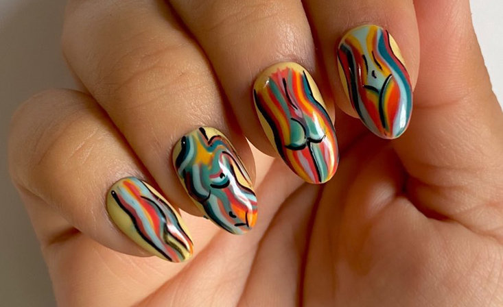 Nail Art Inspired by the Female Silhouette in Celebration of Women's History Month