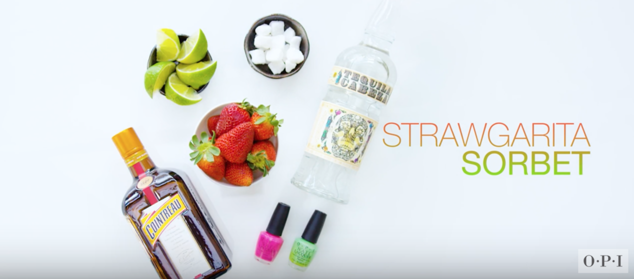 Sips & Tips: Strawgarita Sorbet for Cinco de Mayo! - The Drop Blog by OPI