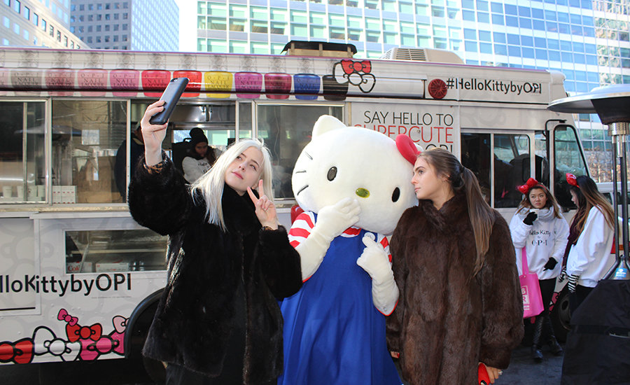 Selfies with Hello Kitty
