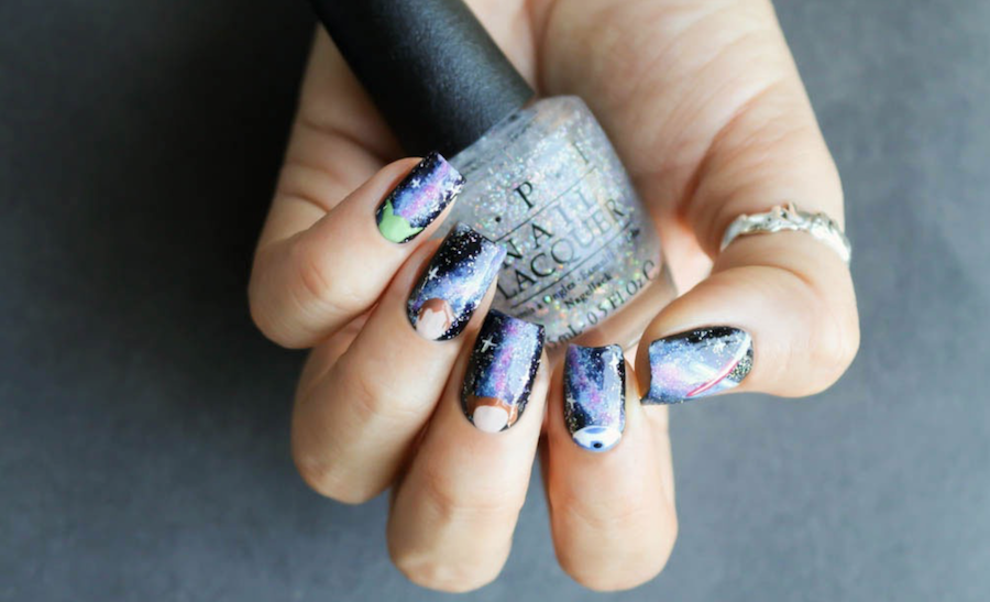 OPI, Designscape, Nail Art, Star Wars, Banicured, Bana Jarjour, Nails, YouTube, YouTuber