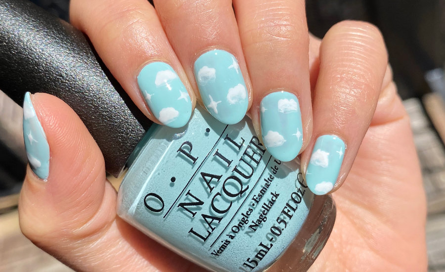Stay At Home Challenge #8: Cloud Nail Art