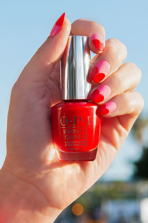 OPI California Dreaming Collection Nail Art Bayside Beau hand swatch with nail polish bottle