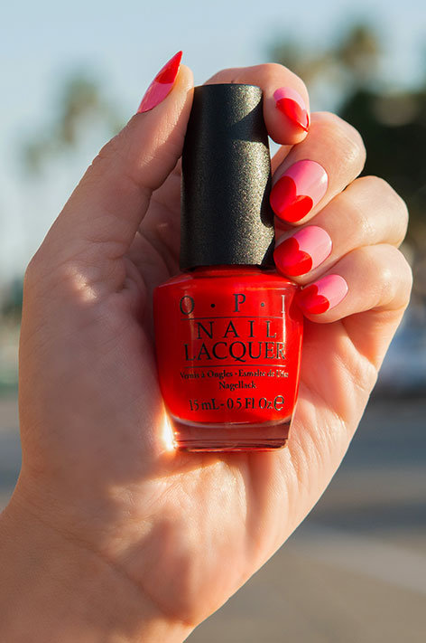 OPI California Dreaming Collection Nail Art Bayside Beau with nail polish bottle
