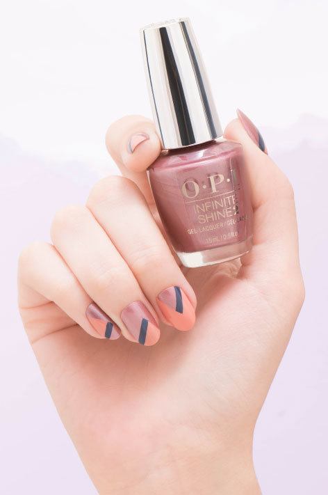OPI Iceland collection infinite shine long wear nail art called Fire & Ice