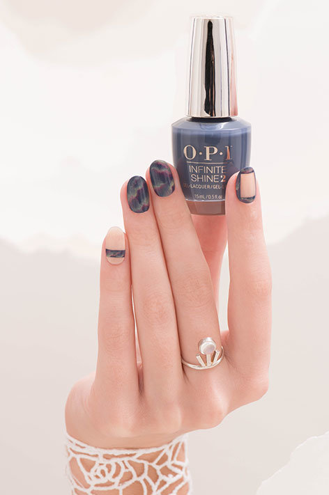 OPI Iceland collection infinite shine long wear nail polish nail art called Through the Glacier Glass