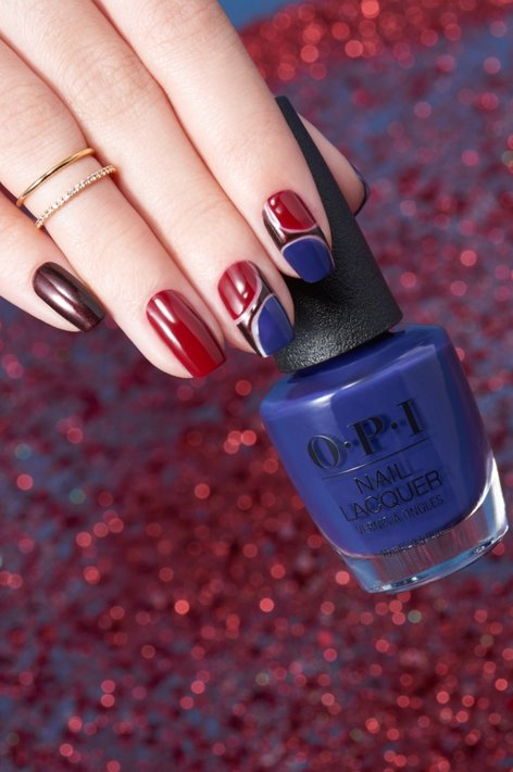 Nutcracker Nail Art Soldier Blues