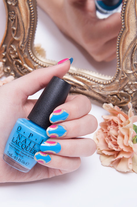 Inspired by Alice  - OPI Nail Art