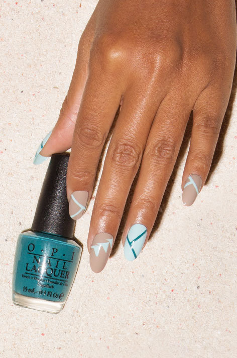 OPI, Fiji Collection, Nail Art, Fiji Palms