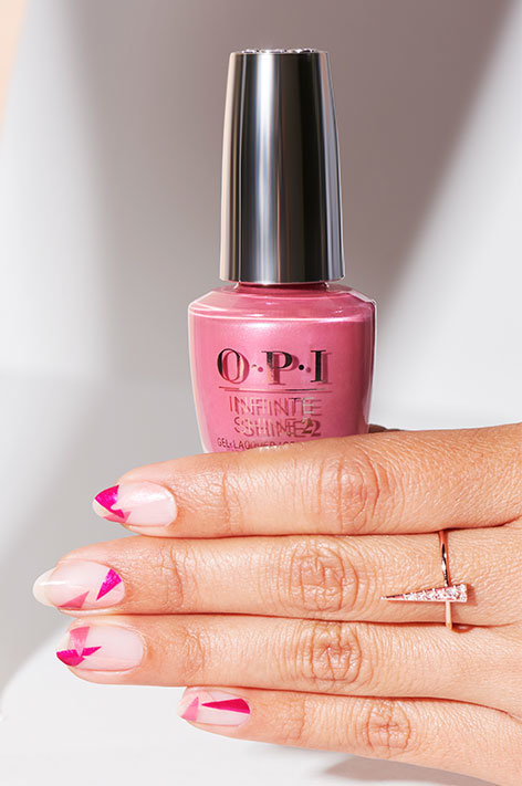 OPI Infinite Shine nail art Love Triangle
