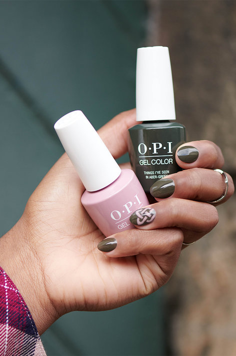OPI Scotland Nail Art Look: Are You Celtic or Knot