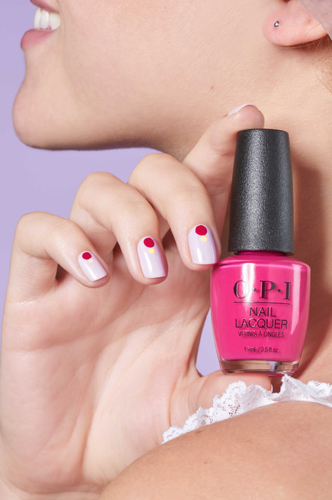 OPI Grease collection summer nail art