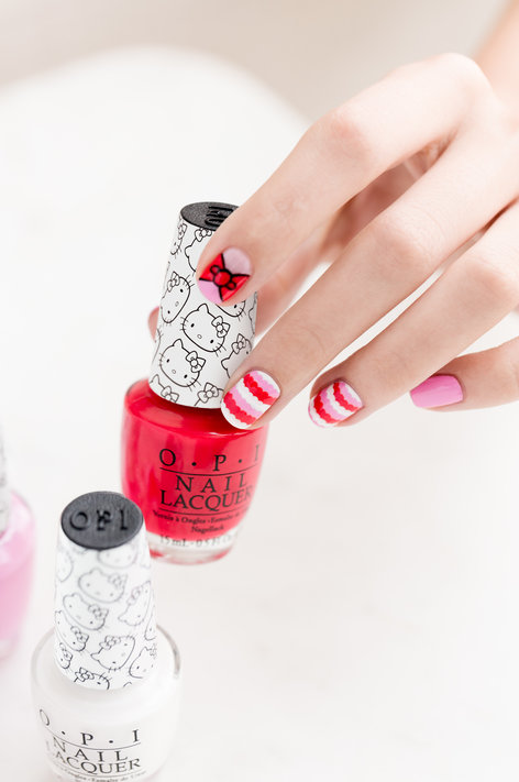 Hello Kitty by OPI, hello kitty nail art, hello kitty nail polish, OPI, nail art, nail diy, hello kitty