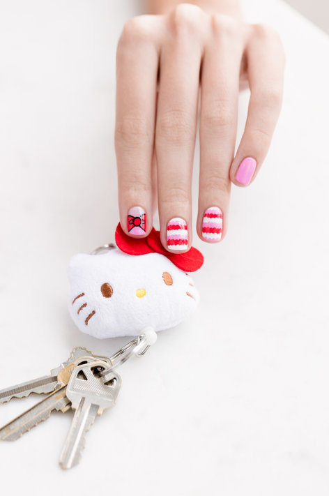 Hello KItty by OPI Nail art, hello kitty, opi, nail art, nail tutorials, nail diy