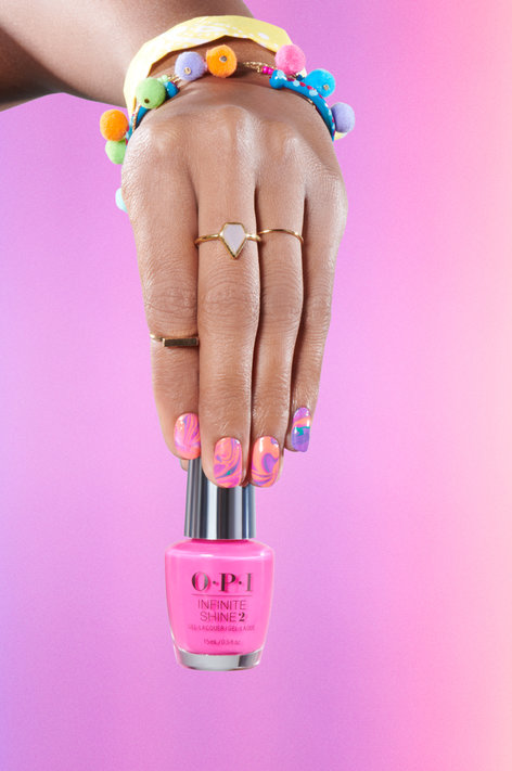 OPI Neons Nail Art Look: Spin Me 'Round the Grounds