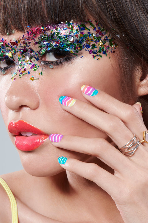OPI Neons Nail Art Look: Rainbow Rave