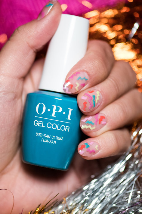 Running On The Rainbow Bridge Spring Nail Art Opi