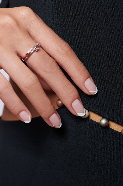 Always Bare for You Nail Art: Cuff Linked Up