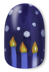 OPI, Holiday Nail Art, Menorah, step 5