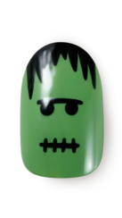 OPI, Halloween Nail art 2016, banicured, Frank & Stitched, step by step, step 6