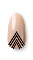 OPI, So Nailicious, Nail Art, Graphic, triangles, four points, step 2