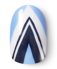 OPI, So Nailicious, Nail Art, alpine blues - Step 5