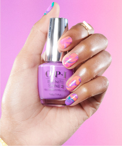 Neon Nail Art Look: Spin Me 'Round the Grounds