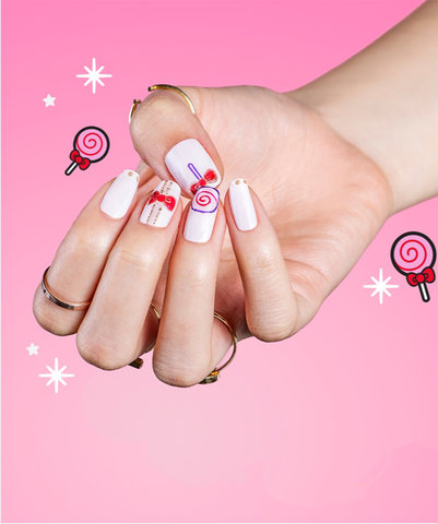 OPI x Hello Kitty Collection Nail Art