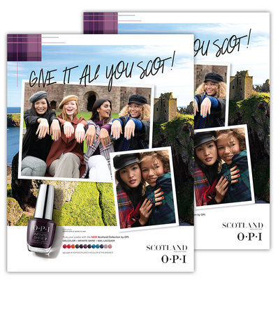 OPI Scotland Collection Posters