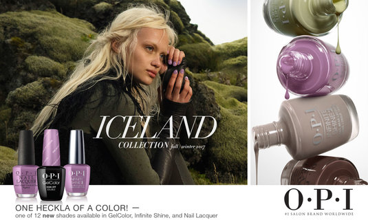 OPI Iceland Collection appointment card