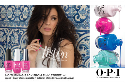 OPI LIsbon collection salon marketing materials