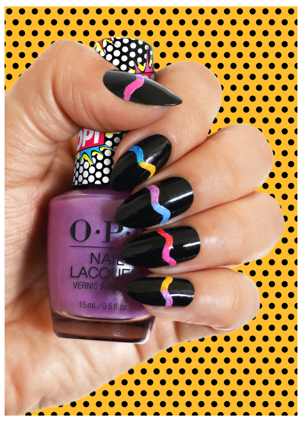 OPI Pop Culture collection nail art