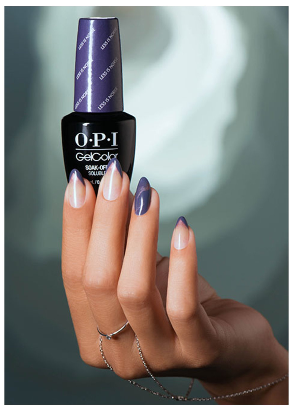 OPI Iceland Collection GelColor nail art Meet Me in The Blue Lagoon
