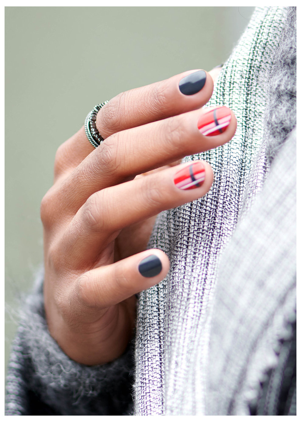 OPI Scotland Nail Art Look: Bonnie Girl in a Bonnie World
