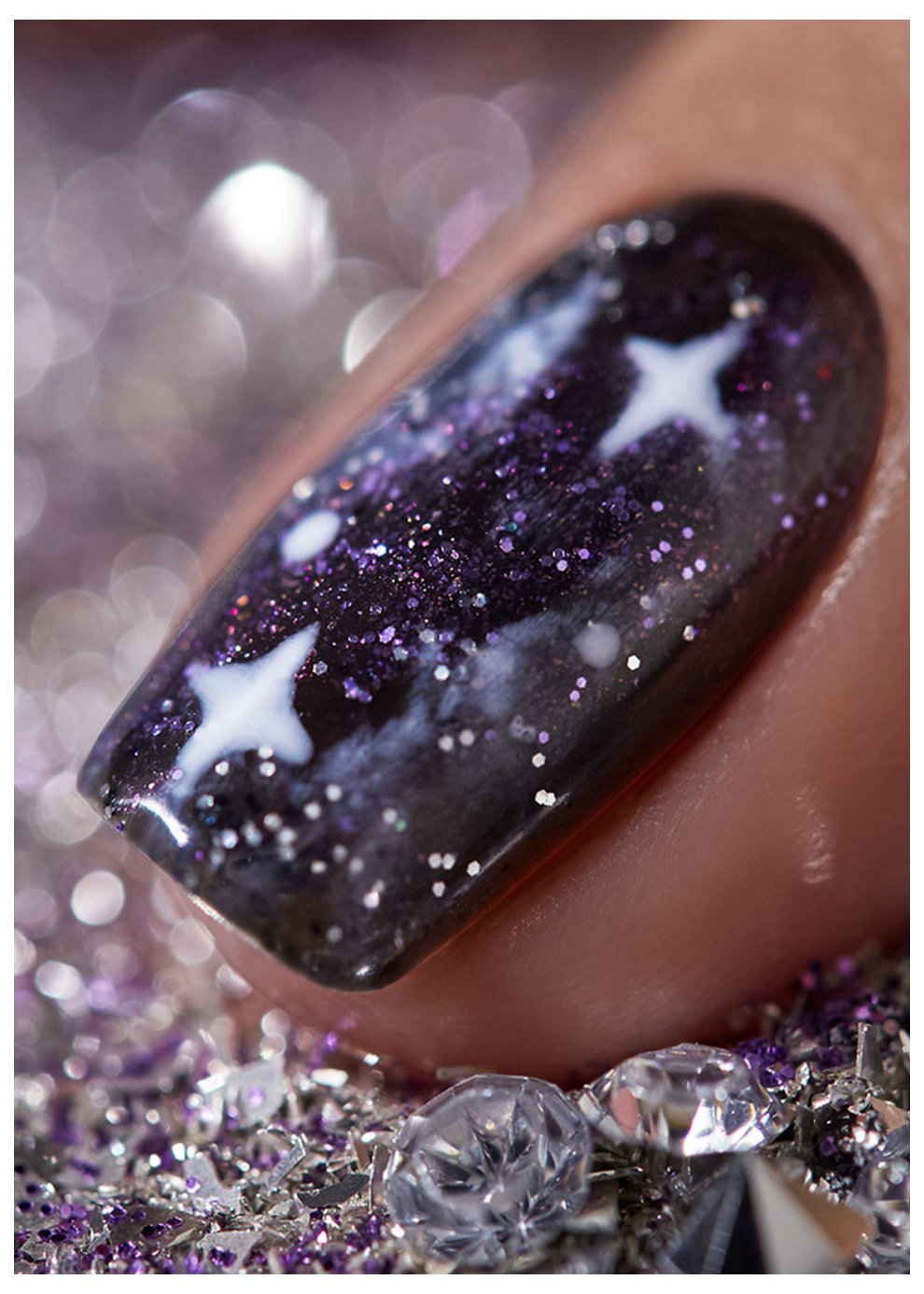 High Definition Glitters Star Crossed Illusions Nail Art