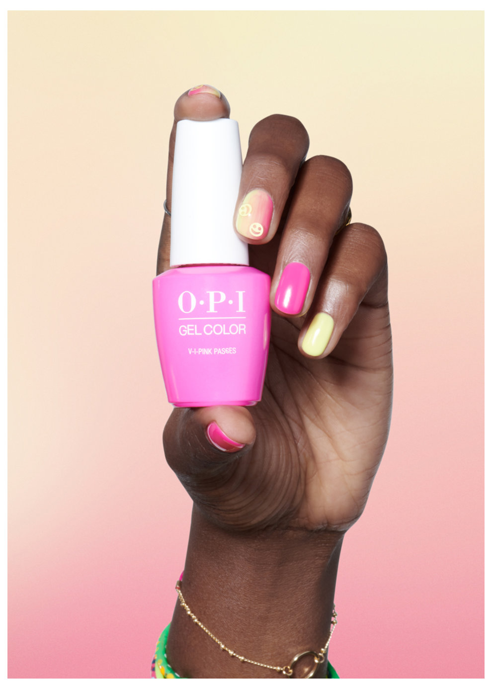 OPI Neons Nail Art Look: Sunset at the Main Stage