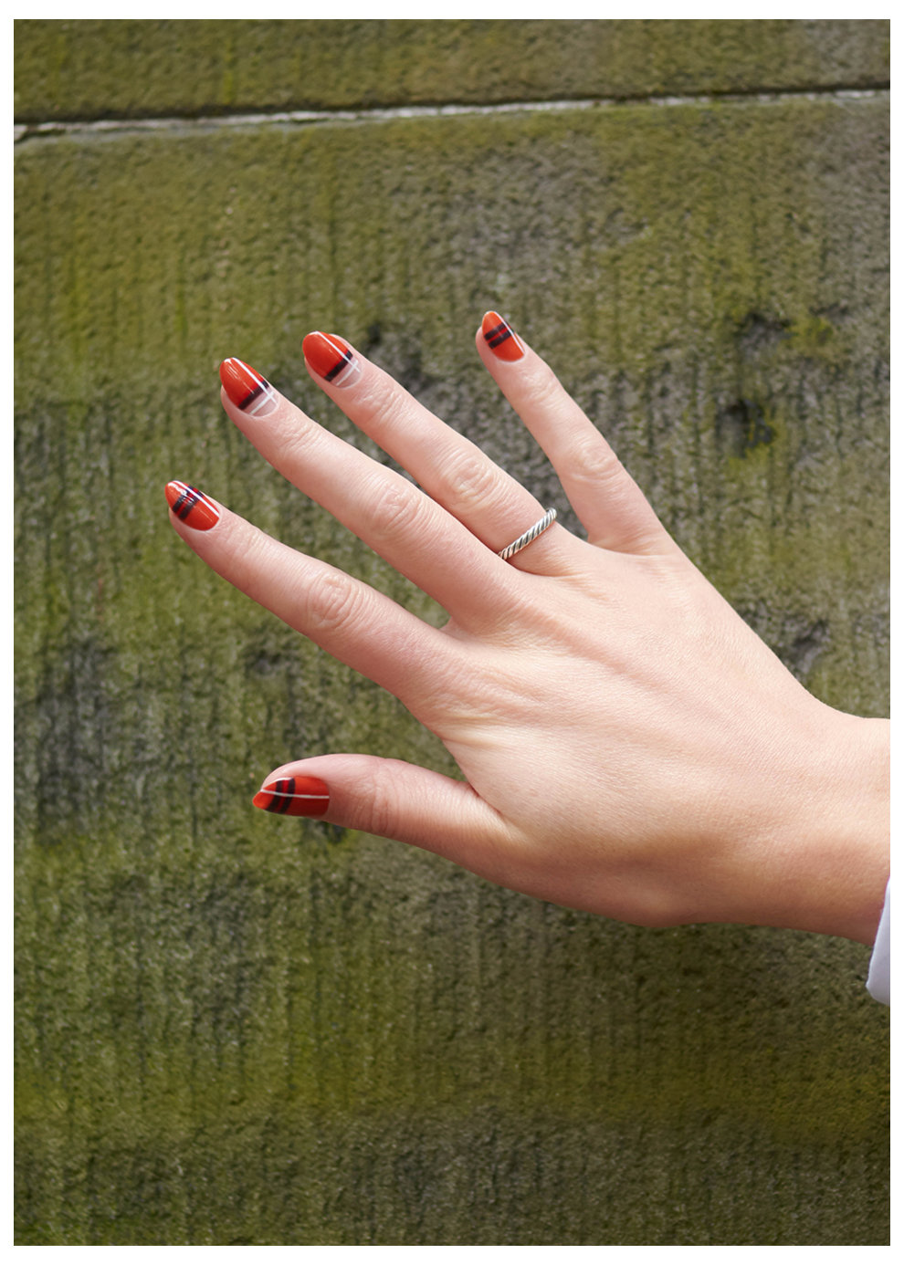 OPI Scotland Nail Art Look: Orange You Plaid