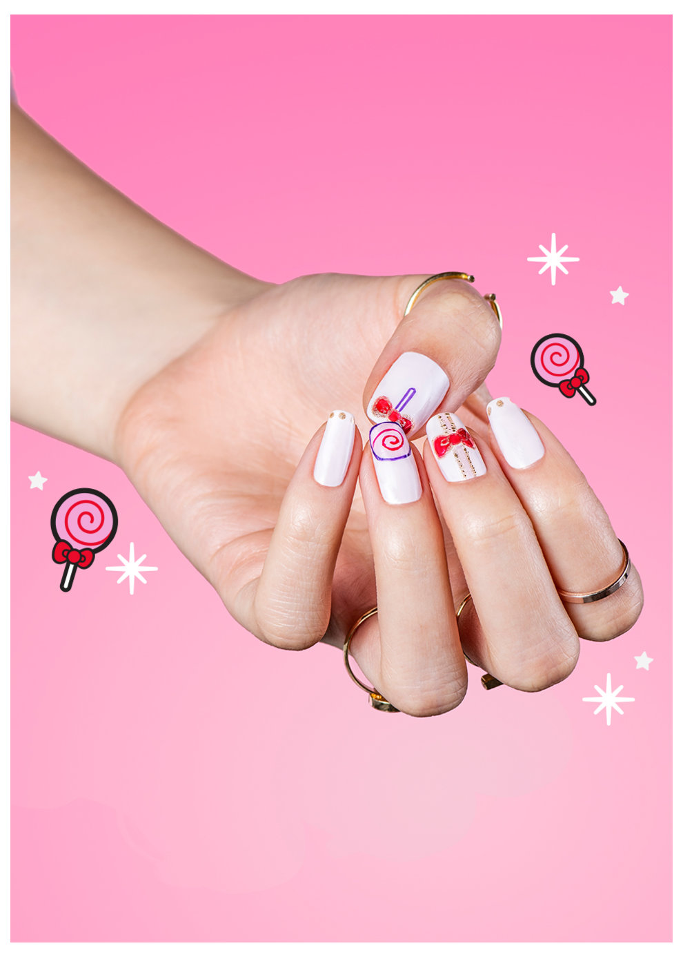 OPI x Hello Kitty Nail Art Something Sweet