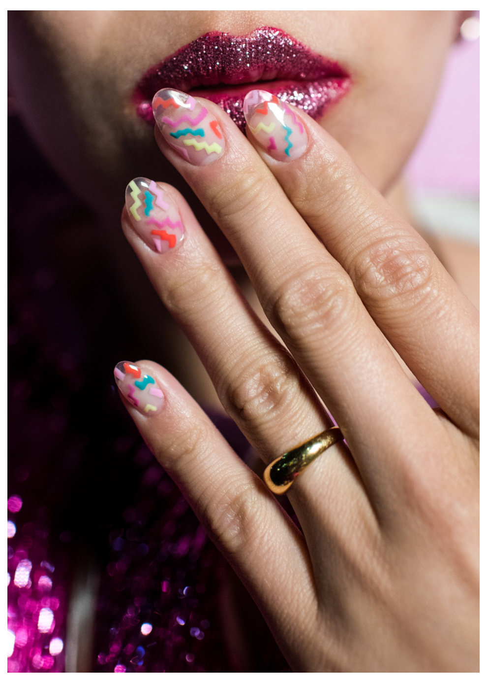 Tokyo Nail Art Running on the Rainbow Bridge