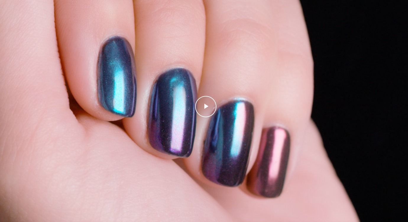 Opi Chrome Metamorphic Metal Nail Art Tutorial