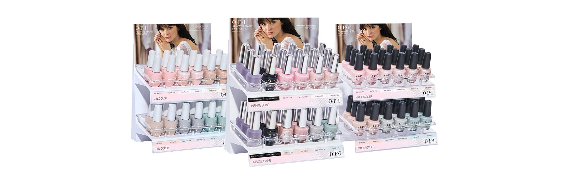 OPI Always Bare for You Collection Displays