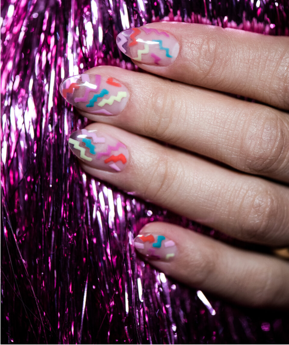 OPI Tokyo Collection nail art: Running on the Rainbow Bridge