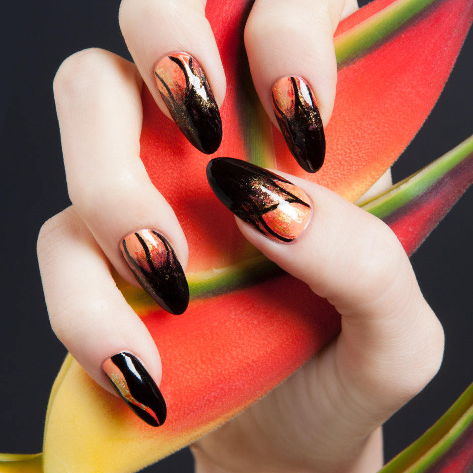 Hawaiian Themed Nail Art By Opi