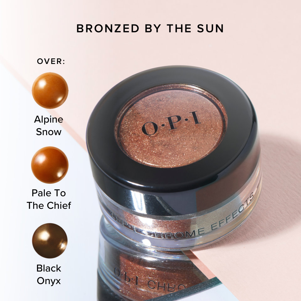 OPI Chrome Effect Powder in Bronzed By the Sun product attribute