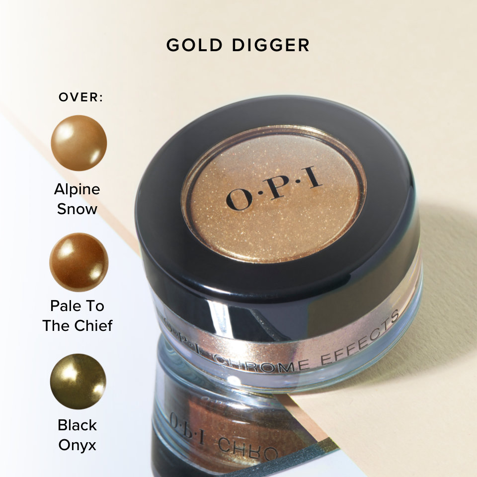 OPI Chrome Effects Powder Gold Digger product attribute