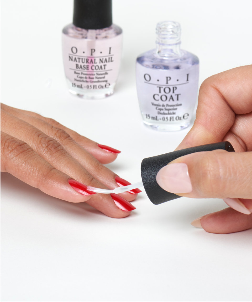 OPI top and base coats